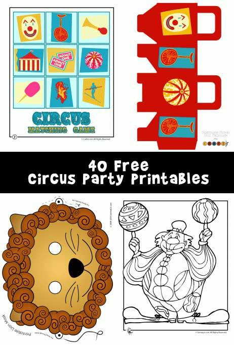 Circus Party Printables and Circus Crafts Woo! Jr Kids Activities
