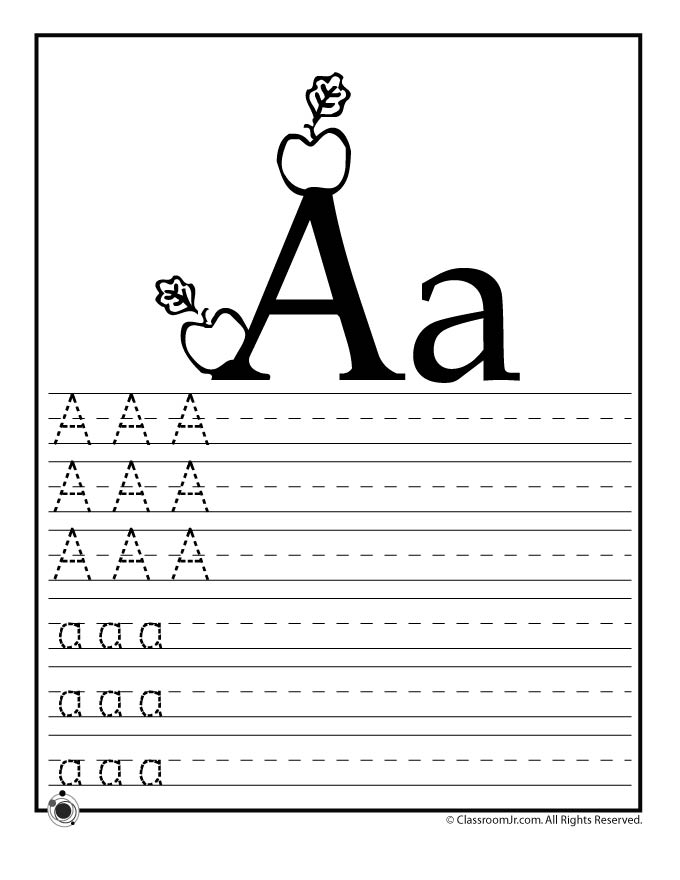 Learning ABC\u0027s Worksheets Woo! Jr Kids Activities