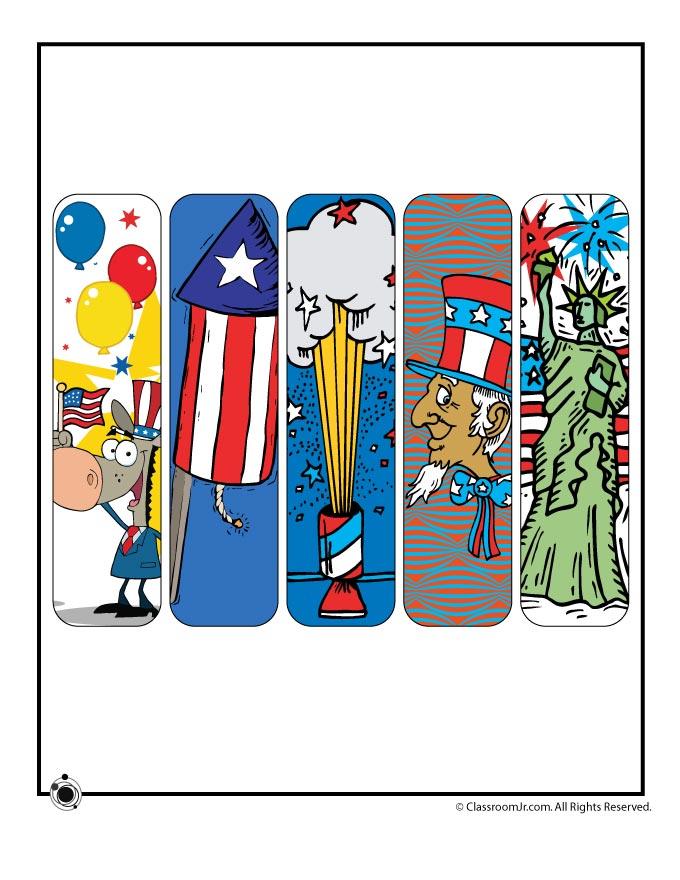 Printable 4th of July Bookmarks Woo! Jr Kids Activities