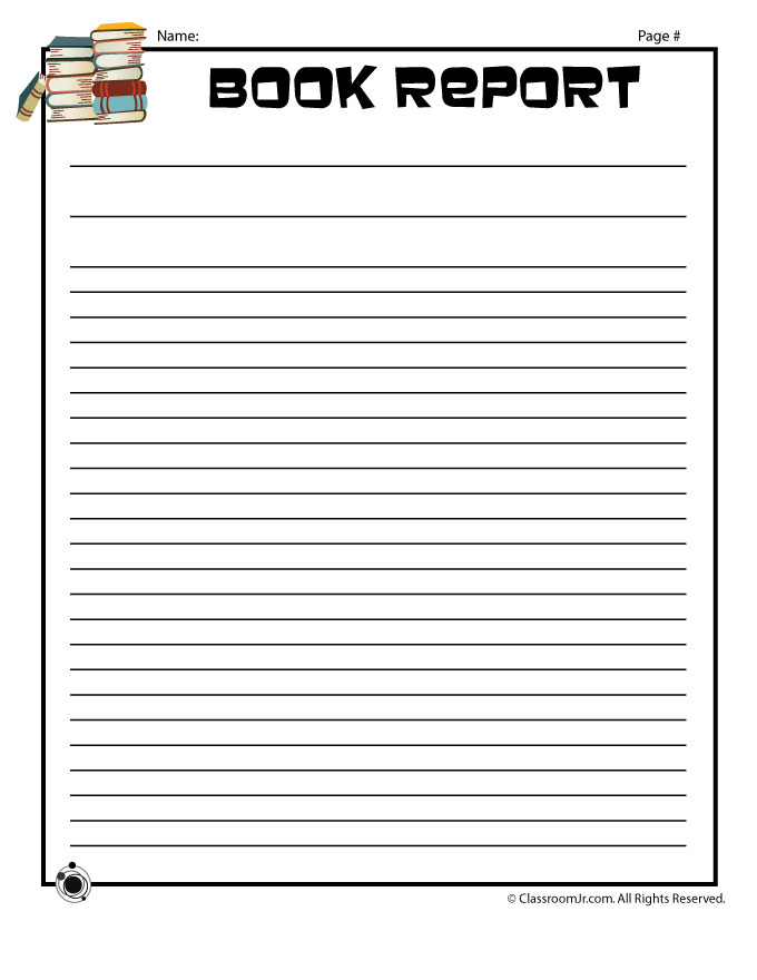 Book Report Forms - printable book report forms