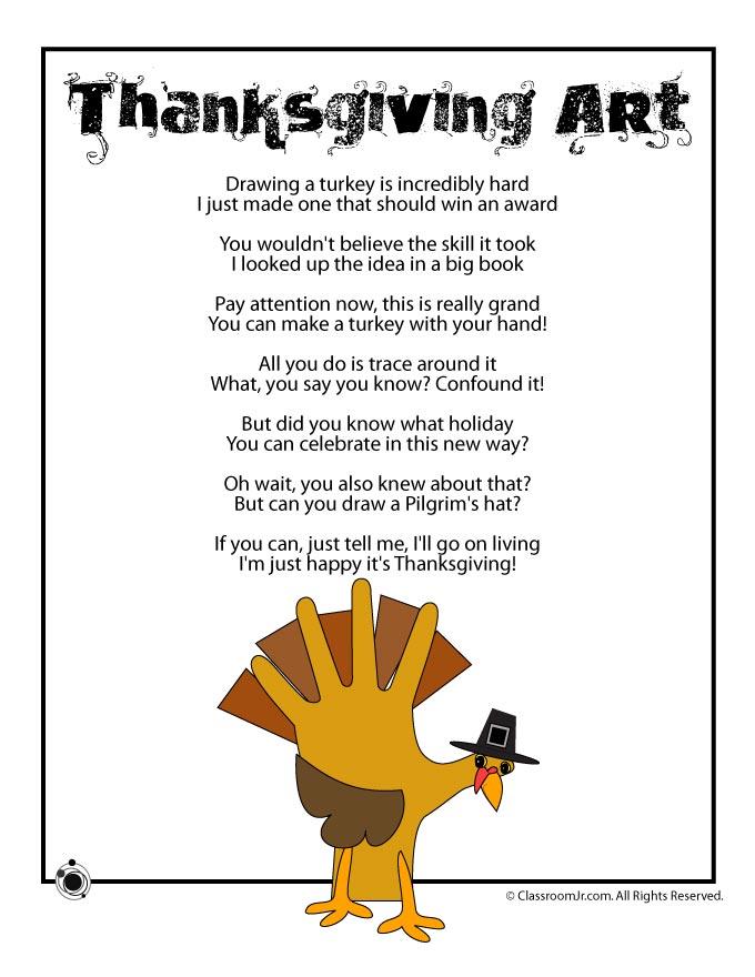 Thanksgiving Kids Poems Woo! Jr Kids Activities