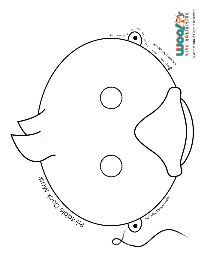 Printable Easter Bunny and Baby Chick Masks Woo! Jr Kids Activities - mask templates for adults