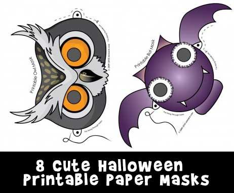 Cute Printable Halloween Animal Paper Masks Woo! Jr Kids Activities