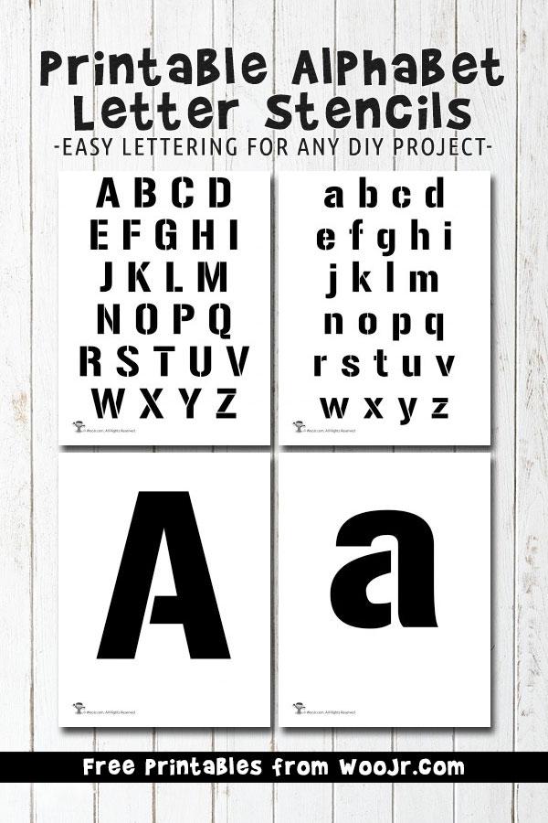Printable Alphabet Letter Stencils Woo! Jr Kids Activities