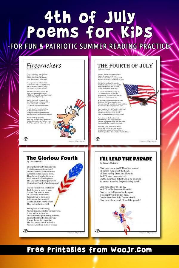 4th of July Kids Poems Woo! Jr Kids Activities