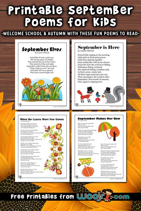 Printable September Poems for Kids Woo! Jr Kids Activities