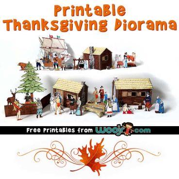 Printable Thanksgiving Diorama Woo! Jr Kids Activities
