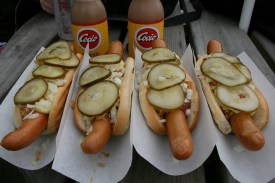 Danish hotdogs