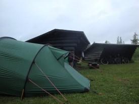 wild camping shelter in denmark