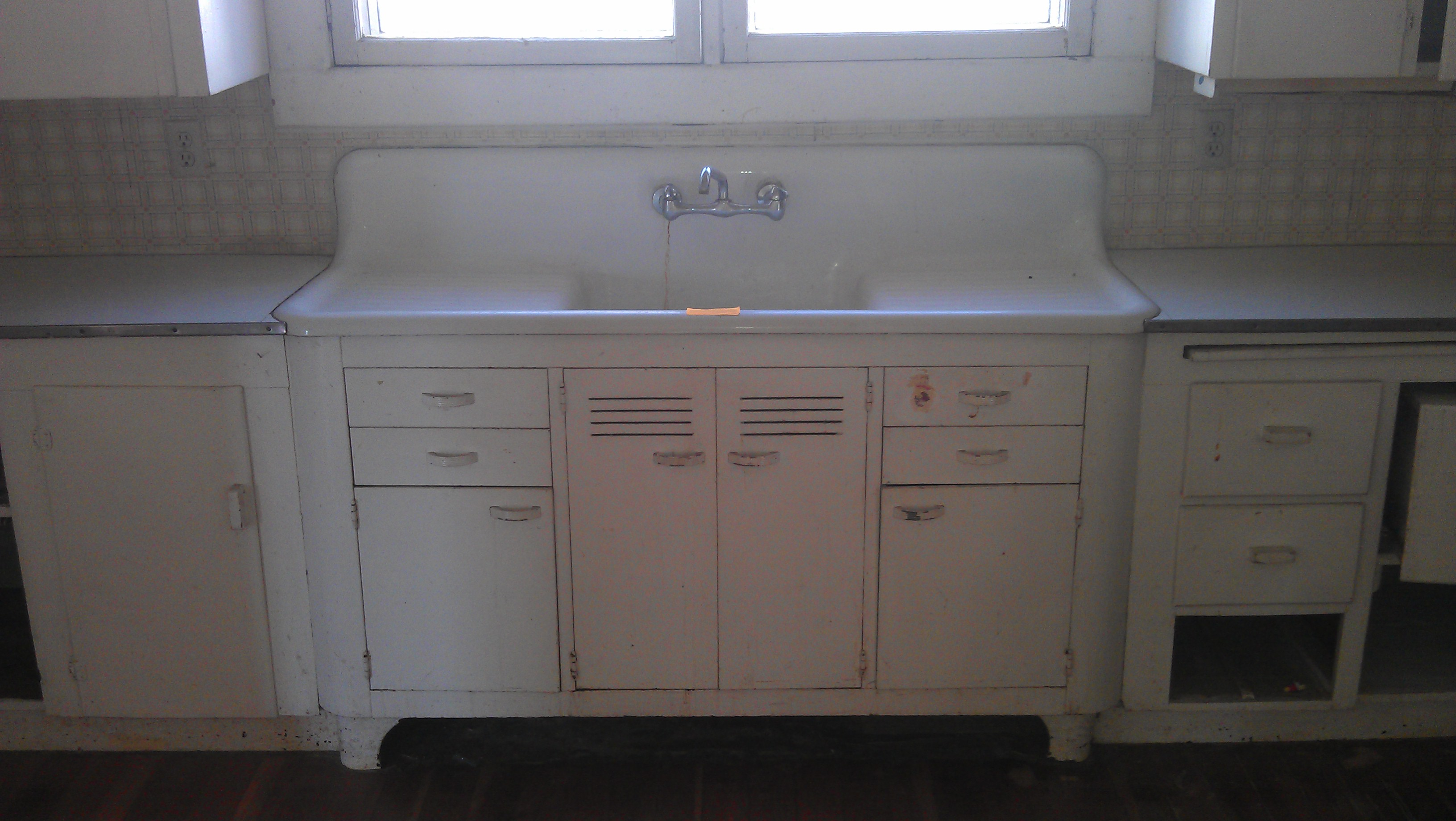 Vintage Single Basin Double Drainboard Kitchen Sink Woot
