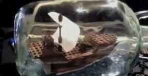 Construye un barco de Lego en una botella