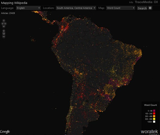 Mapping Wikipedia mapa interactivo de Wikipedia