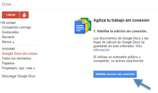 25-01-2013 Google drive sin conexion