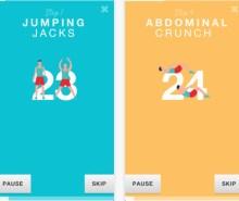 Aplicaciones de ejercicios completos de 7 minutos