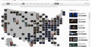 Videos populares de Youtube en un mapa