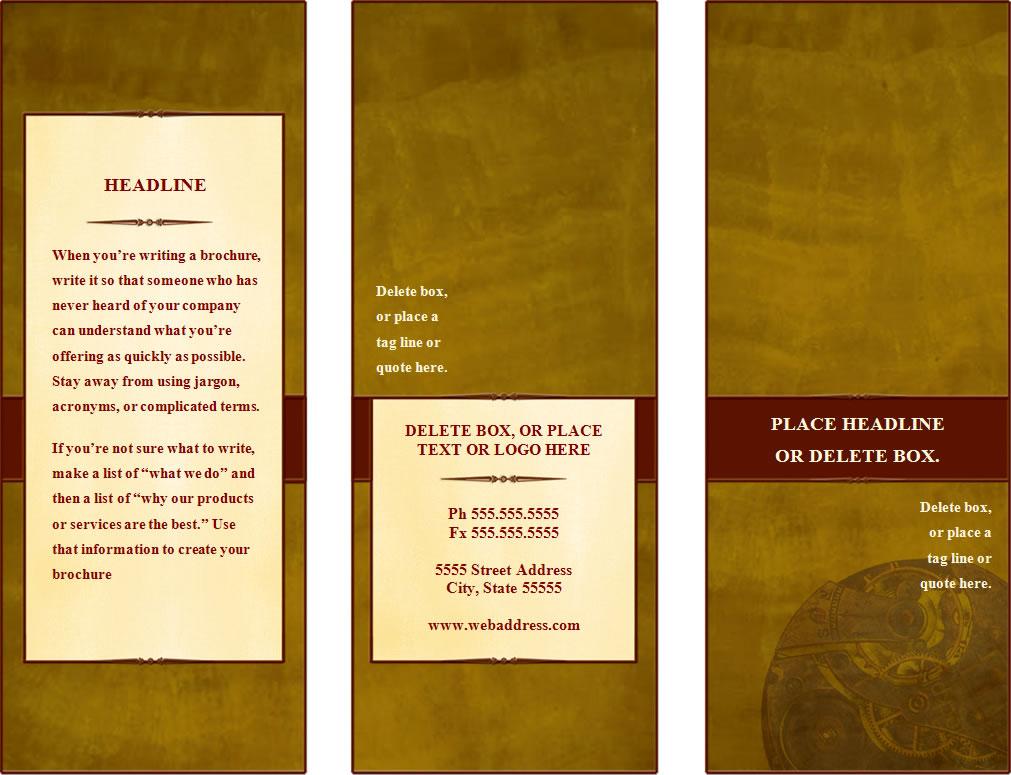 Make A Tri Fold Brochure - make a trifold brochure in word