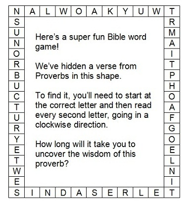Bible Games and Puzzles  Try These Puzzling Proverbs!