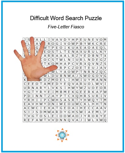 Difficult Word Search Puzzles for True Word Puzzle Fans!