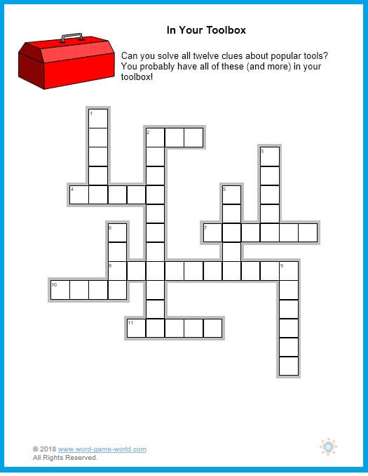 Printable Easy Crosswords for Adults