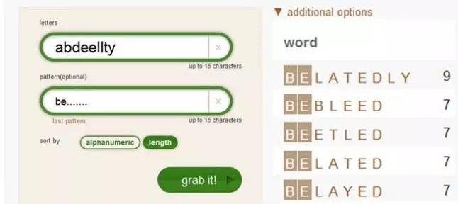 ᐅ Letter Sorting Make words from letters with the word generator - word with the letters