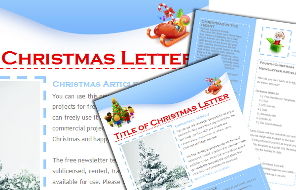 WordDraw - Free Christmas Newsletter Templates - christmas template free