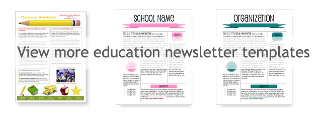 WordDraw - Free Classroom Newsletter Template
