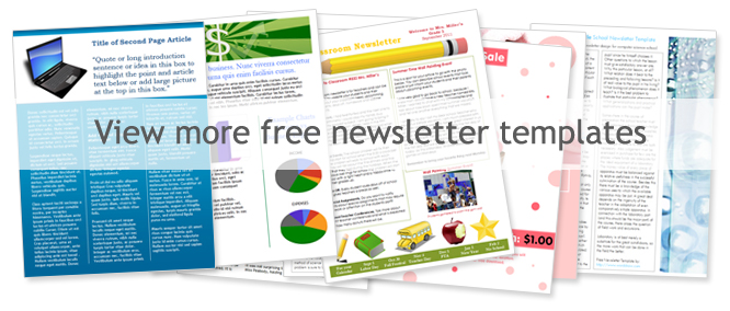 Free Microsoft Word Templates – Free Newsletter Template Word