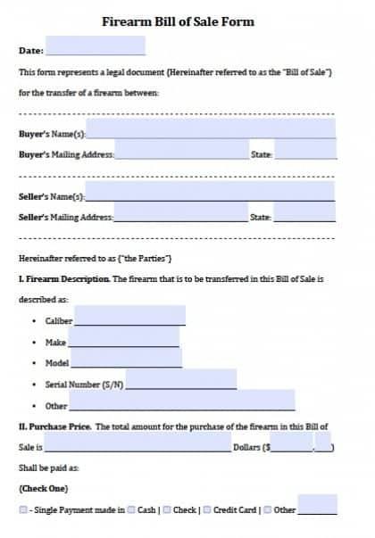Gun Bill Of Sale - sarahepps -