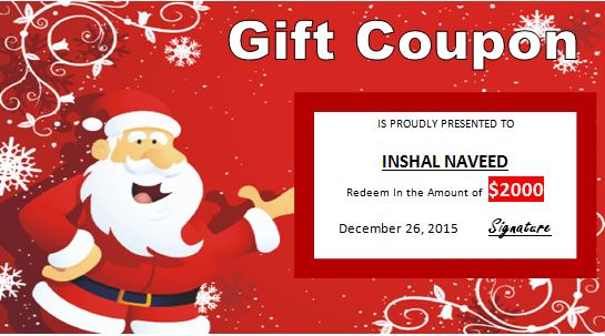 Happy Christmas Gift Certificate template Word \ Excel Templates - christmas gift certificate template free
