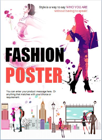 Modern Professional Fashion Poster Template Word  Excel Templates - fashion poster design