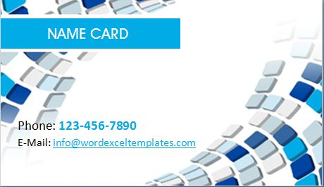 Creative Business Name Card Template Word  Excel Templates - template for name cards