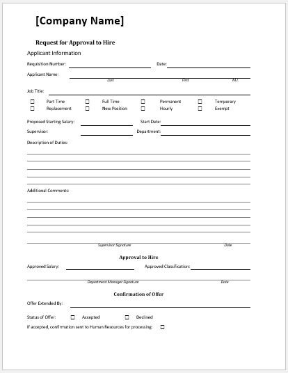 Comprehensive Job Description Template Word  Excel Templates - job request form