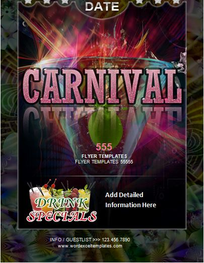 MS Word Carnival Flyer Templates Word  Excel Templates