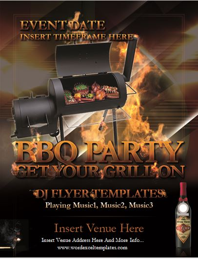 Backyard Barbecue BBQ Party Flyer Template Word  Excel Templates