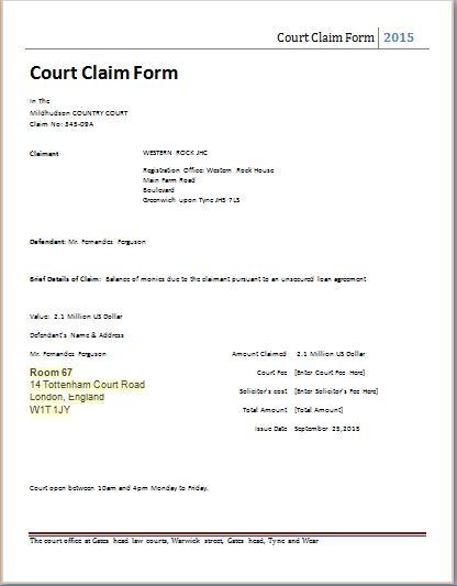 court template - Ozilalmanoof