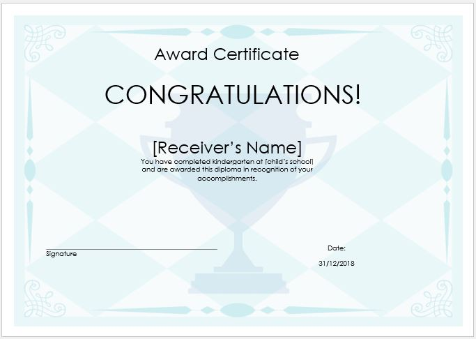 Price Winner Award Certificate Template Word  Excel Templates - prize voucher template