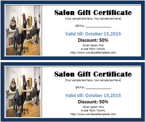 MS Word Salon Gift Certificate Template Word  Excel Templates - microsoft word gift certificate template free
