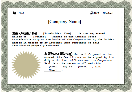 Doc800600 Free Certificate Template for Word Certificates – Free Certificate Templates for Word