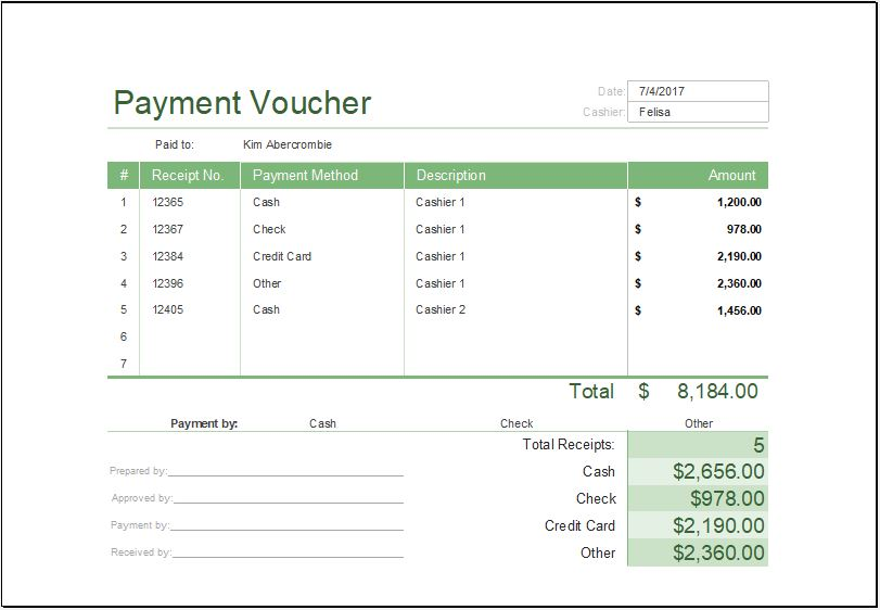 Printable Payment Voucher Template MS Excel Word  Excel Templates - fun voucher template