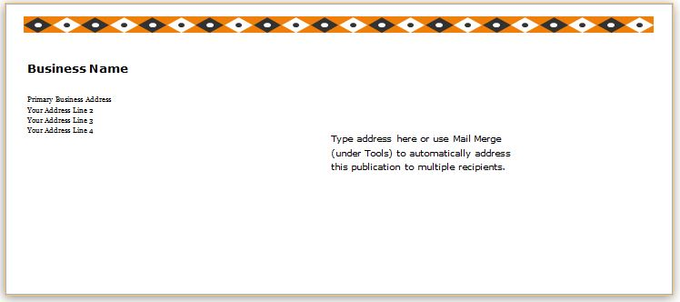 40 Editable Envelope Templates for MS Word Word  Excel Templates - sample a2 envelope template