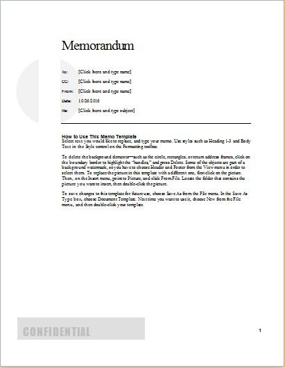 24 Free Editable Memo Templates for MS Word Word  Excel Templates