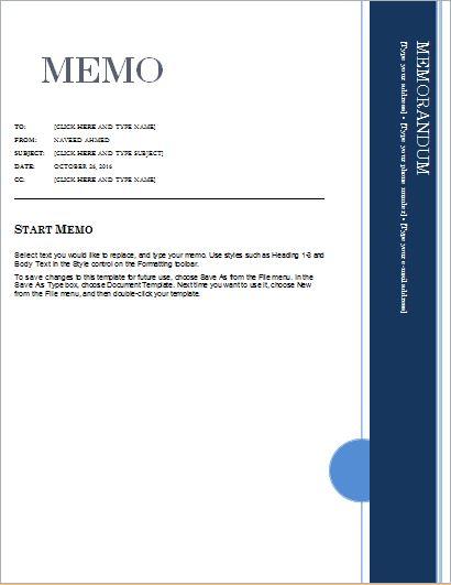 memo templates