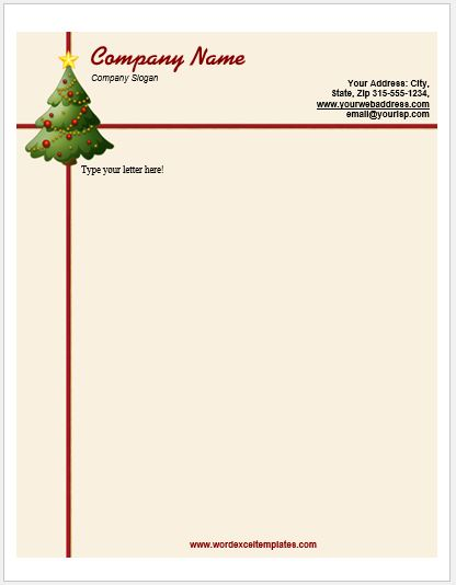 Event Letterhead Templates for MS Word Word \ Excel Templates - christmas letterhead templates word