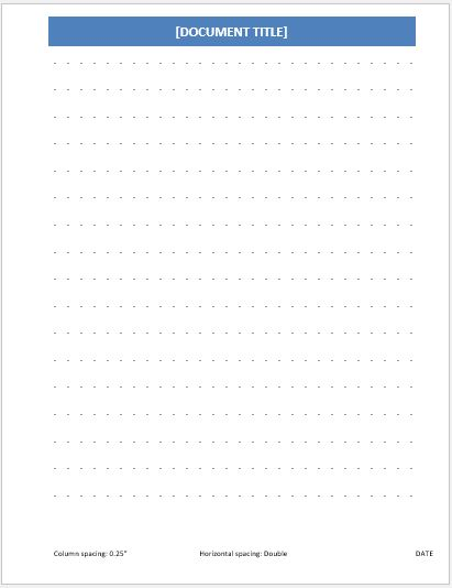 Dotted Papers for MS Word Word  Excel Templates