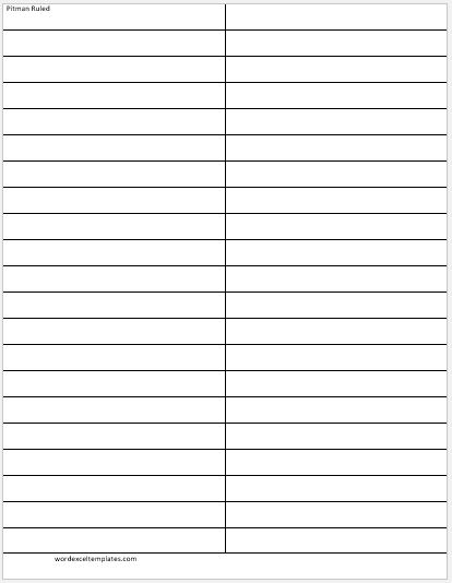 MS Word Lined Papers for Handwriting Practice Word  Excel Templates - line paper