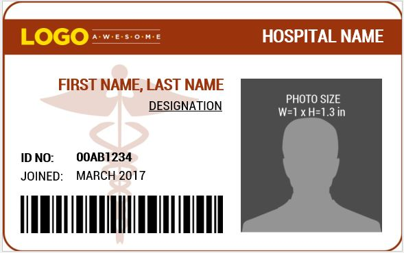 Doctor\u0027s Photo ID Badge Templates for MS Word Word  Excel Templates