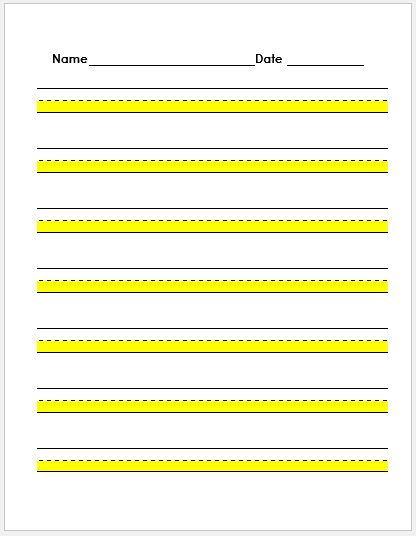 Lined Paper Template Word Download  Unique Lined Paper Template - lined paper microsoft word template