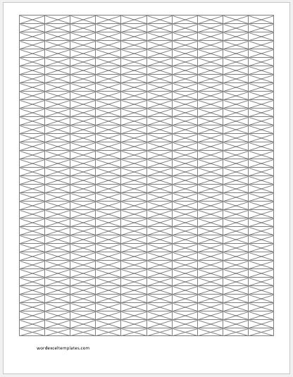 Isometric Graph Papers for MS Word Word  Excel Templates - microsoft office graph paper