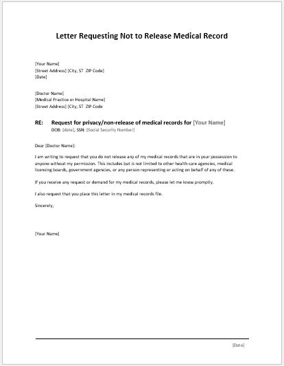 Medical Permission Letter [Template.billybullock.us ]