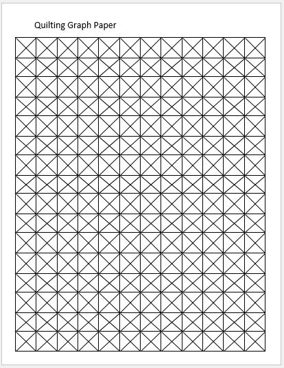 Quilting Graph Papers for MS Word Word  Excel Templates - graph paper